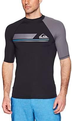 Quiksilver Men's Active Short Sleeve Rashguard Swim Shirt UPF 50+