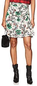 Isabel Marant Women's Cereny Floral Stretch-Silk Skirt-White
