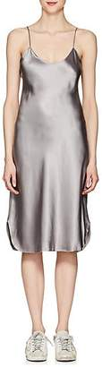 Nili Lotan Women's Silk Charmeuse Midi-Slipdress - Pewter