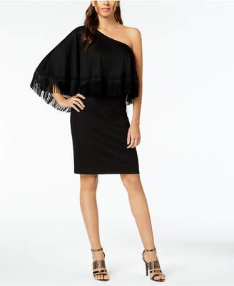Trina Turk Eastside One-Shoulder Fringe Dress