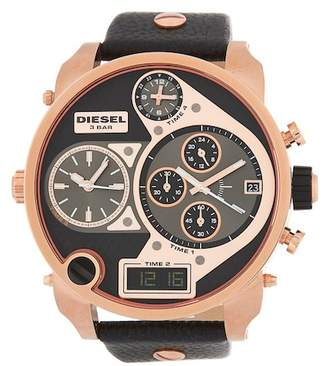 Diesel Men's Mr, Daddy Chronograph Leather Strap Watch, 57mm