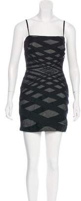 Robert Rodriguez Mesh-Trimmed Mini Dress