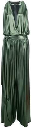 Alexandre Vauthier metallic plunge neck gown