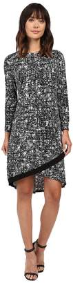 Ellen Tracy Crossover Hem Dress Women's Dress