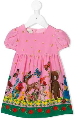 Gucci Kids baby animals print dress
