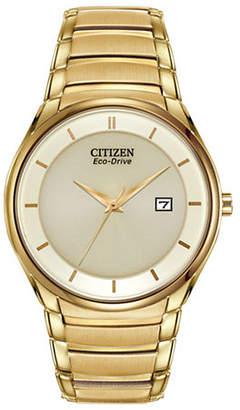Citizen Analog Eco-Drive Dress Goldtone Bracelet Watch