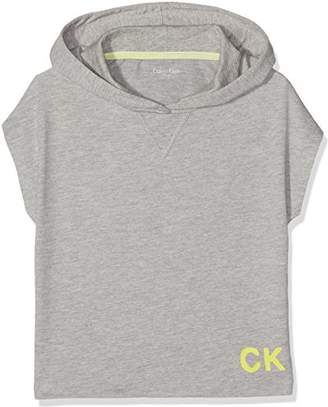 Calvin Klein Girl's My Cropped Hoodie,(Manufacturer Size: 8-10)