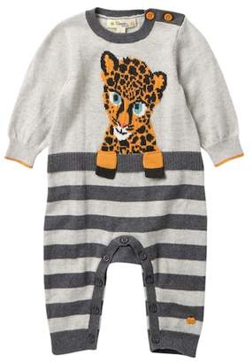 Bonnie Mob Leopard Intarsia Stripe Playsuit (Baby)