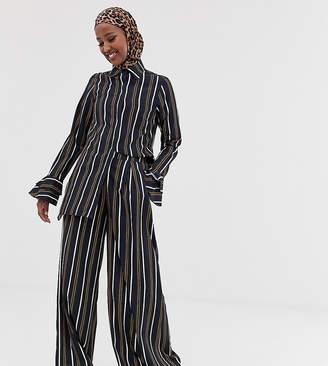 Verona wide leg pants two-piece in multi stripe