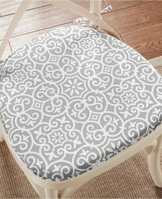 Madison Park Aptos Fretwork Weather-Resistant Indoor/Outdoor Chair Pad Pair with 3M Scotchgard