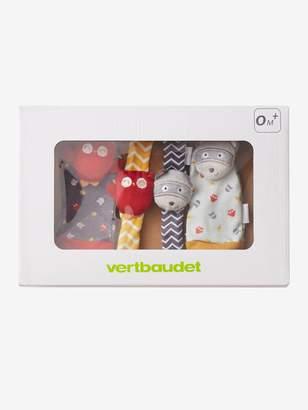 Vertbaudet Baby Activity Toys, Owl-Raccoon Bracelets & Slippers