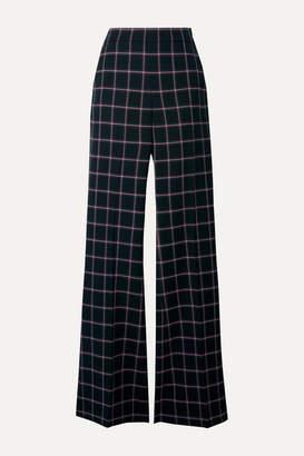 Rebecca Vallance Peta Checked Woven Flared Pants - Black