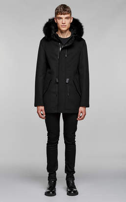 Mackage ALEX brushed wool parka with down filled