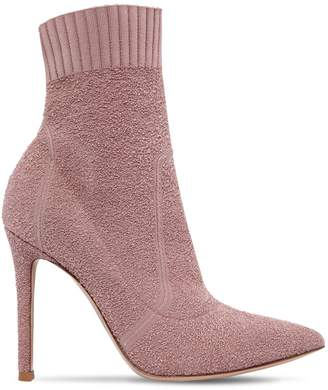Gianvito Rossi 100mm Fiona Boucle Knit Boots