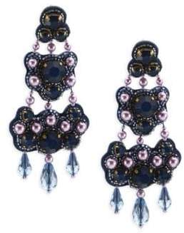 Tory Burch Beaded Chandelier Bing Earrings