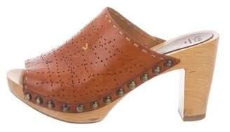Henry Cuir Leather Slide Sandals