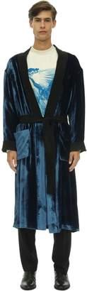 Triple Rrr Frequency Printed Velvet Robe