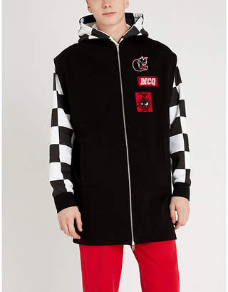 McQ Varsity cotton-jersey hoody