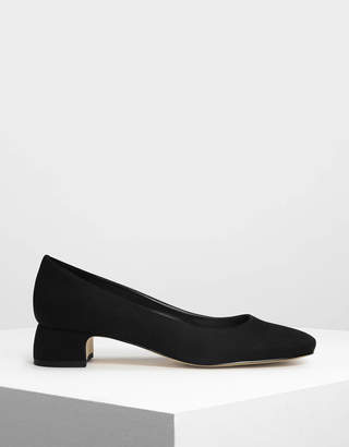 Charles & Keith Covered Block Heel Pumps