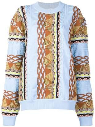 Aalto contrast knit sweater