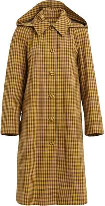 Burberry Detachable Hood Check Cotton Car Coat