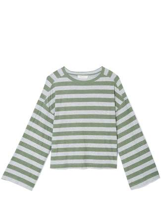 Vince Camuto Striped Flared-sleeve T-shirt