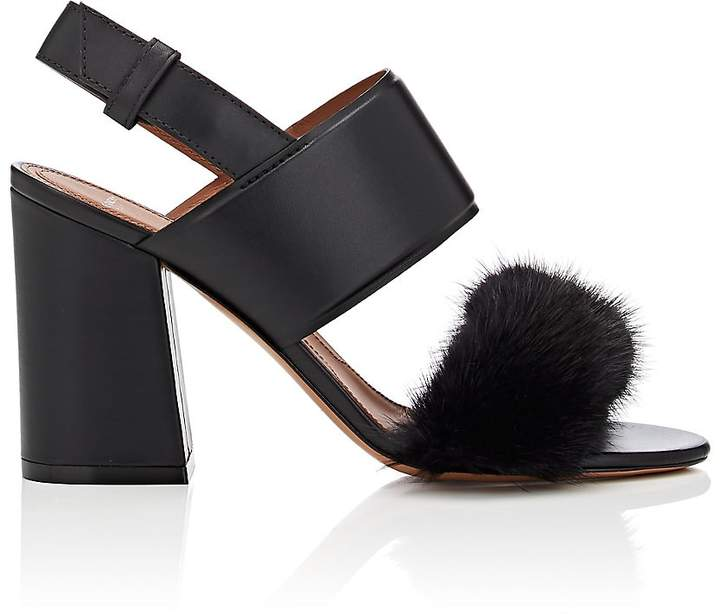 Givenchy Women's Leather & Mink Fur Slingback Sandals