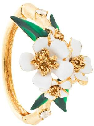 Oscar de la Renta flower bangle