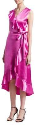Maje Ripple Satin Evening Dress