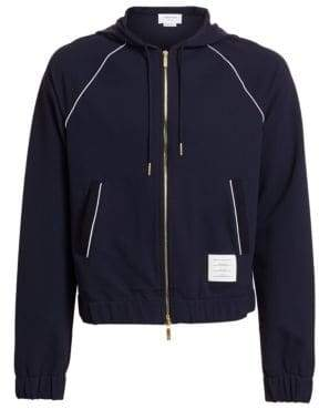 Thom Browne Double Knit Tech Zip-Up Hoodie