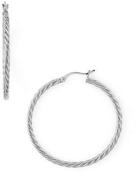 Argentovivo Braided Hoop Earrings