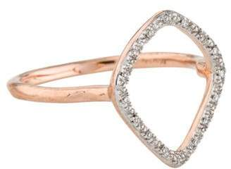 Monica Vinader Diamond Riva Hoop Ring