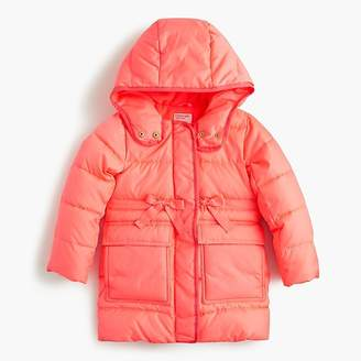 J.Crew Girls' long puffer coat with eco-friendly Primaloft®