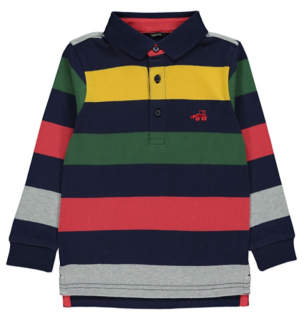 George Digger Emblem Long Sleeve Polo Shirt