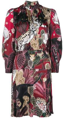 Just Cavalli collage-print dress