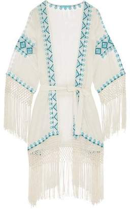 Melissa Odabash Dana Embroidered Voile Coverup