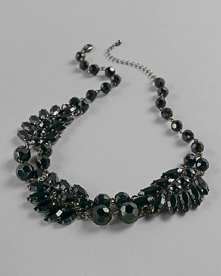 Feather Faceted Necklace