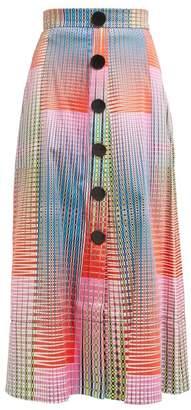 Saloni Charlotte Checked Cotton Blend Skirt - Womens - Multi