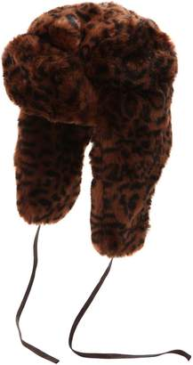 Kangol Leopard Printed Faux Fur Trapper Hat