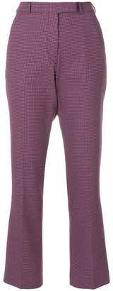 Etro patterned bootcut cropped trousers