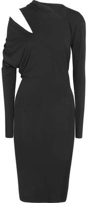 Vivienne Westwood Timans Cutout Draped Stretch-jersey Dress - Black