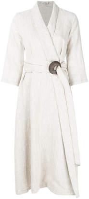 Isa Arfen sash tie wrap dress
