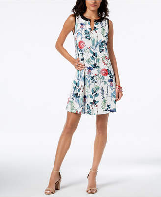Tommy Hilfiger Printed A-Line Dress, Created for Macy's