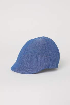 H&M Chambray Flat Cap - Blue