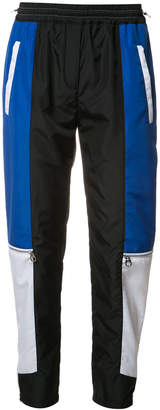 Versace colour block paneled track pants