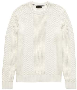 Banana Republic SUPIMA® Cotton Cable-Knit Sweater