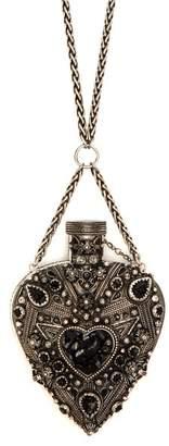 Saint Laurent Heart Necklace - Womens - Silver