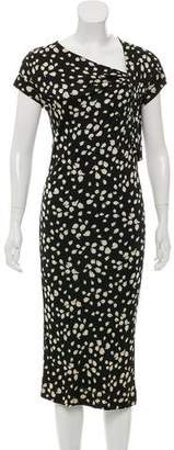 Christian Dior Printed Midi Dress