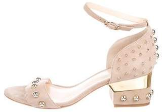 Isa Tapia Suede Ankle Strap Sandals
