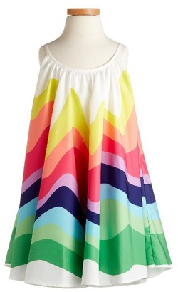 Girl's Halabaloo Rainbow Wave Dress $110 thestylecure.com